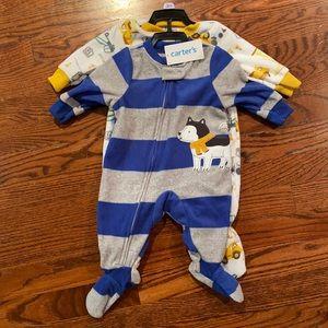 CARTERS - NWT 2 piece onesie set